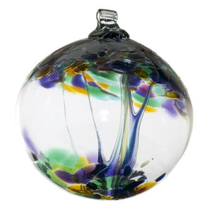 "Kitras Art Glass- Tree of Enchantment Ball- ""Blessings"""