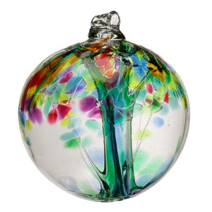 "Kitras Art Glass- Tree of Enchantment Ball (Large)- ""Family"""