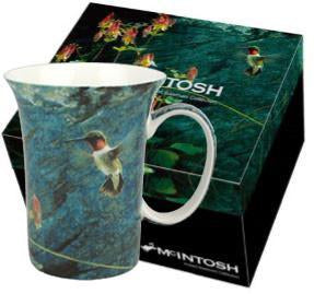 "Crest Mug- Robert Bateman ""Ruby Throat and Columbine"""