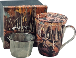 "Tea Mug W/ Infuser and Lid- Tom Thomson ""Birch Grove"""