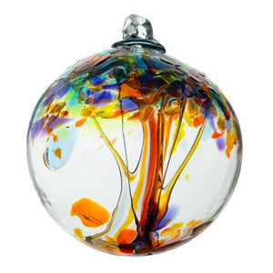 "Kitras Art Glass- Tree of Enchantment Ball- ""Happiness"""