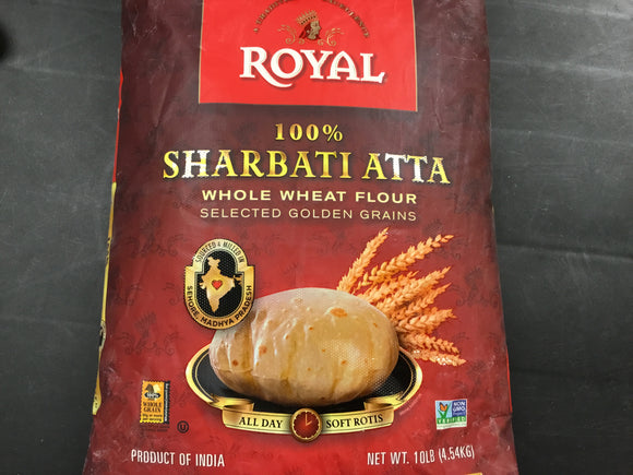 Royal - Sharbati ATTA  Whole Wheat Flour 10 LB