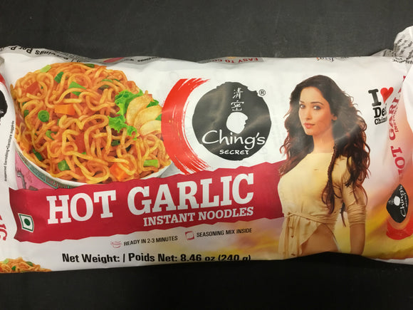 Chings Hot Garlic -Instant Noodles (VPK) 240g