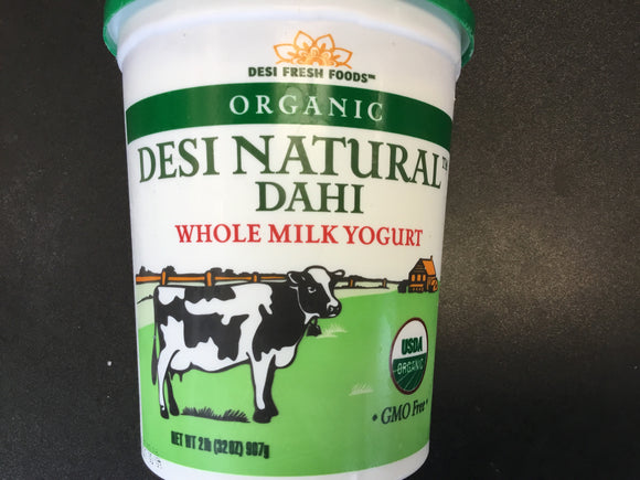Desi Organic Whole Milk Yogurt 2LB