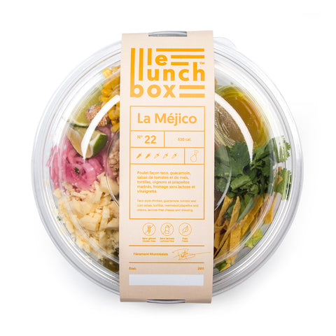 LE LUNCH BOX WEBSITE ECOMMERCE LA MÉJICO SALADE  POULET FAÇON TACO MONOLITH