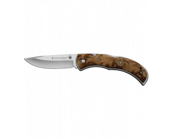 Hunters Element Classic Series Knife: Folding Drop Point