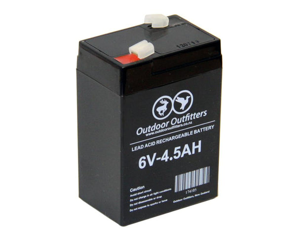 Outdoor Outfitters 6V 4.5AH Rechargeable Battery