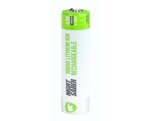 Night Saber Battery 18650 Rechargeable Li-ION 2.2A