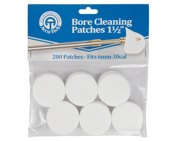 Accu-Tech Bore Cleaning Patches 6mm - 30 Cal