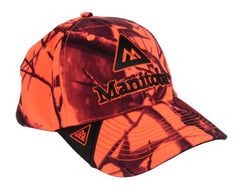 Manitoba Blaze Orange Camo Baseball Cap