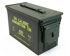 Lockable .50 cal Ammunition Tin