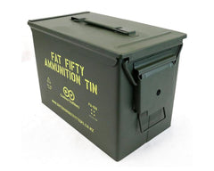 Fat Fifty .50 Cal Ammo Tin - No Padlock Latch