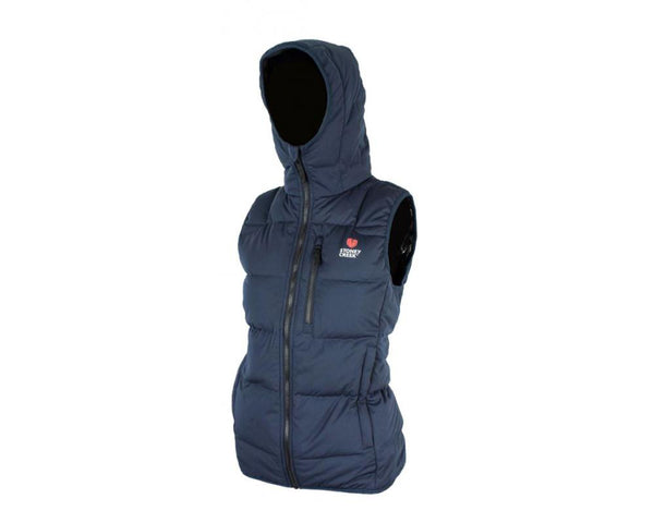 Stoney Creek Women's Thermolite Vest with Hood: Blue