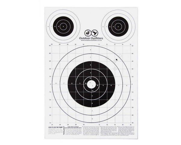 Paper Bulls Eye Targets 300 x 420mm