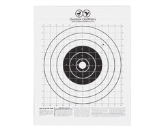 Outdoor Outfitters Paper Bulls Eye Targets 250 x 250mm X10