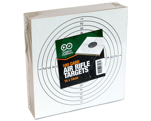 Outdoor Outfitters Card Targets 100 Pack Small 14cm X 14cm