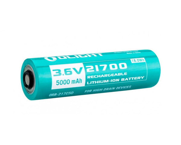 Olight ORB-217C50 INR 21700 Rechargeable Li-ion Battery: 3.6v, 5000mAh
