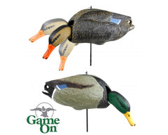 Game On Wobble Head Mallard 4 Hens 2 Drakes