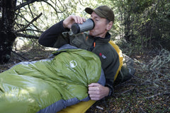Domex Halo Sleeping Bag: Standard, Olive/Charcoal -10°C