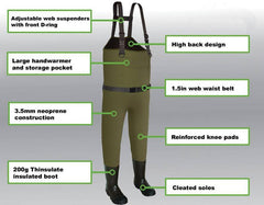 Mainlander Explorer Chest Waders