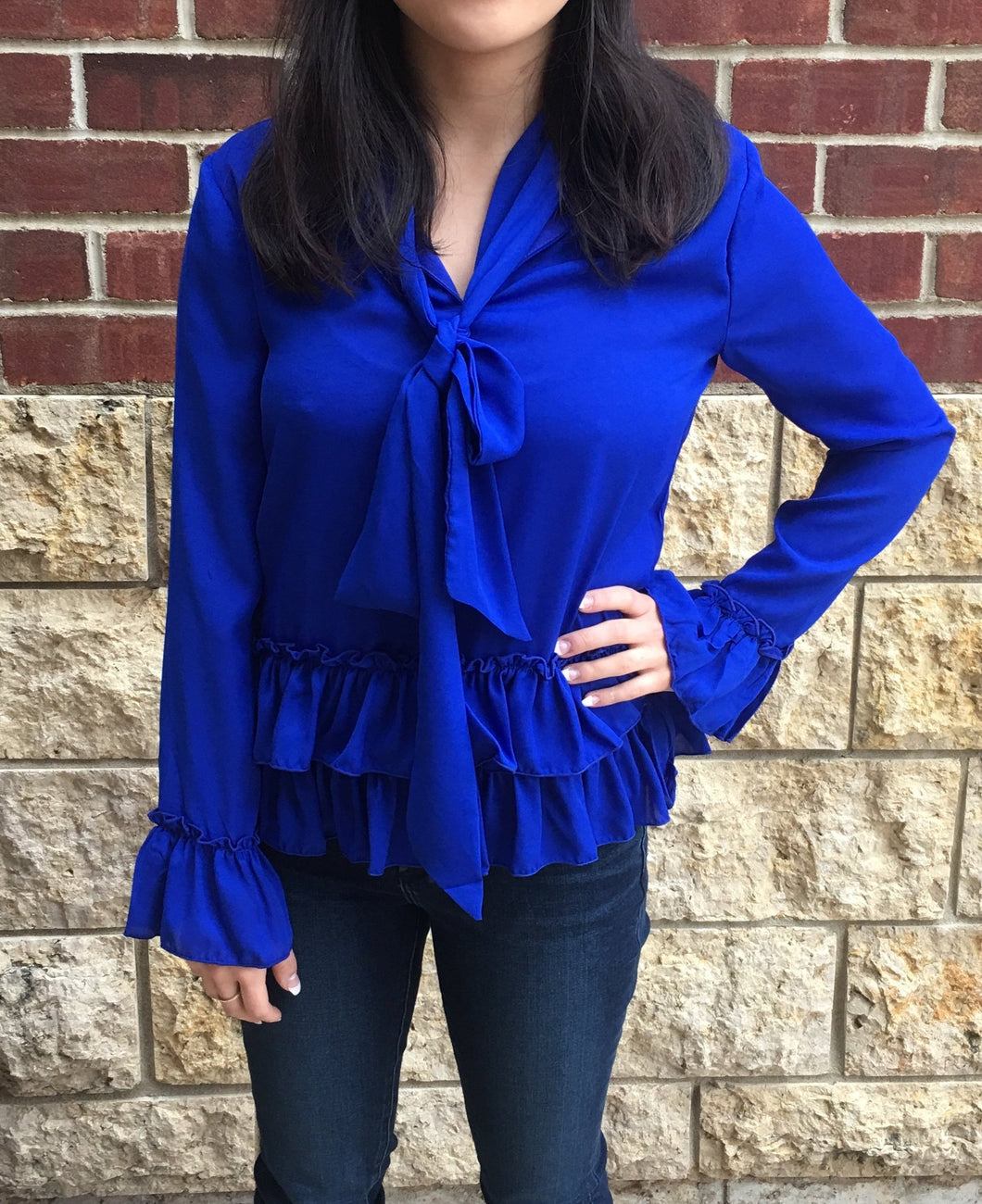 VIBRANT ROYAL BLUE TOP