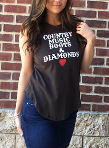 """COUNTRY MUSIC"" MUSCLE TANK"