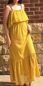 LONG MAXI DRESS WITH TIE STRAPS