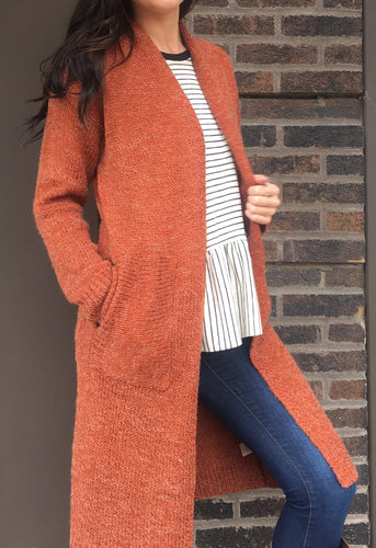 MAXI CARDIGAN WITH POCKETS