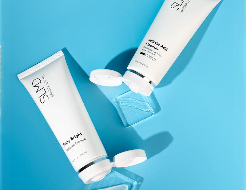 Daily Bright Cleanser and Salicylic Acid Cleanser by SLMD Skincare