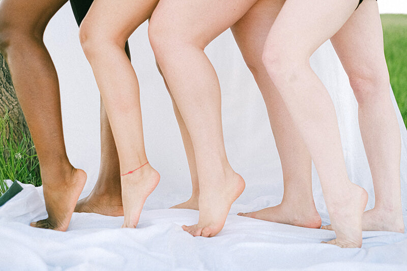Legs can be prone to keratosis pilaris, best treated with Glycolic Acid Body Scrub