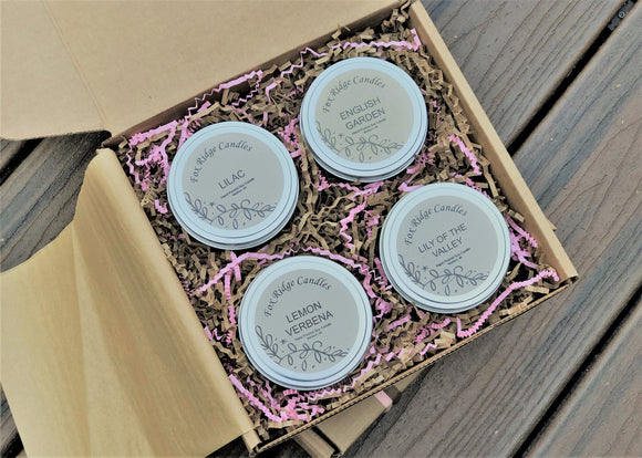 Floral Candle Gift Set