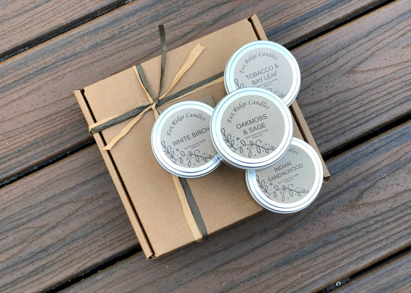 Earthy Candle Gift Set