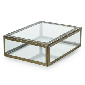 "10"" Gold Baroque Glass Display Box, HDG62"