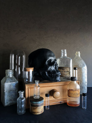 Black Ceramic Skull, HDG30