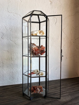 4 Tiered Glass Curio Case, HDG36