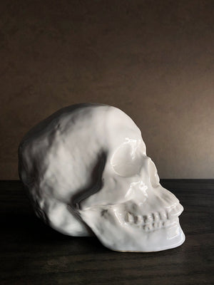 White Ceramic Skull, HDG31
