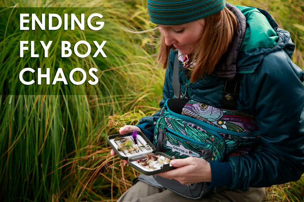 ending fly box chaos women's flyfishing Alaska fly fishing information