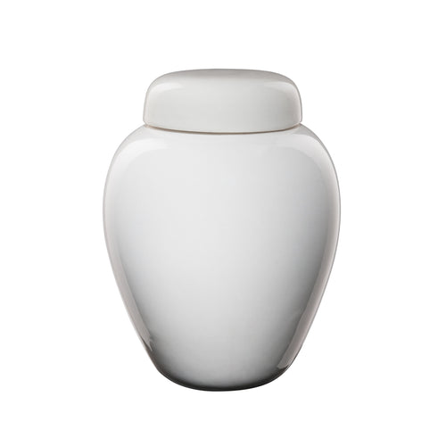 Neutral ceramic urn. Suitable for humans or pets.