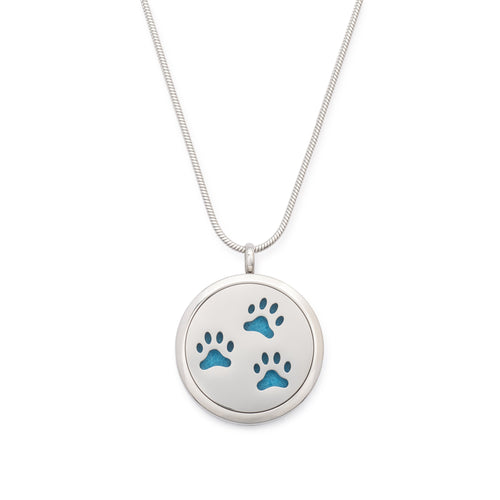 Essential Oil Paw Print Cremation Pendant