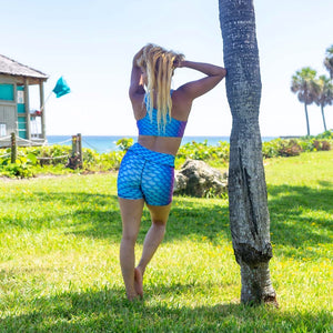 Aruba Mermaid Yoga Shorts by Cape Cali