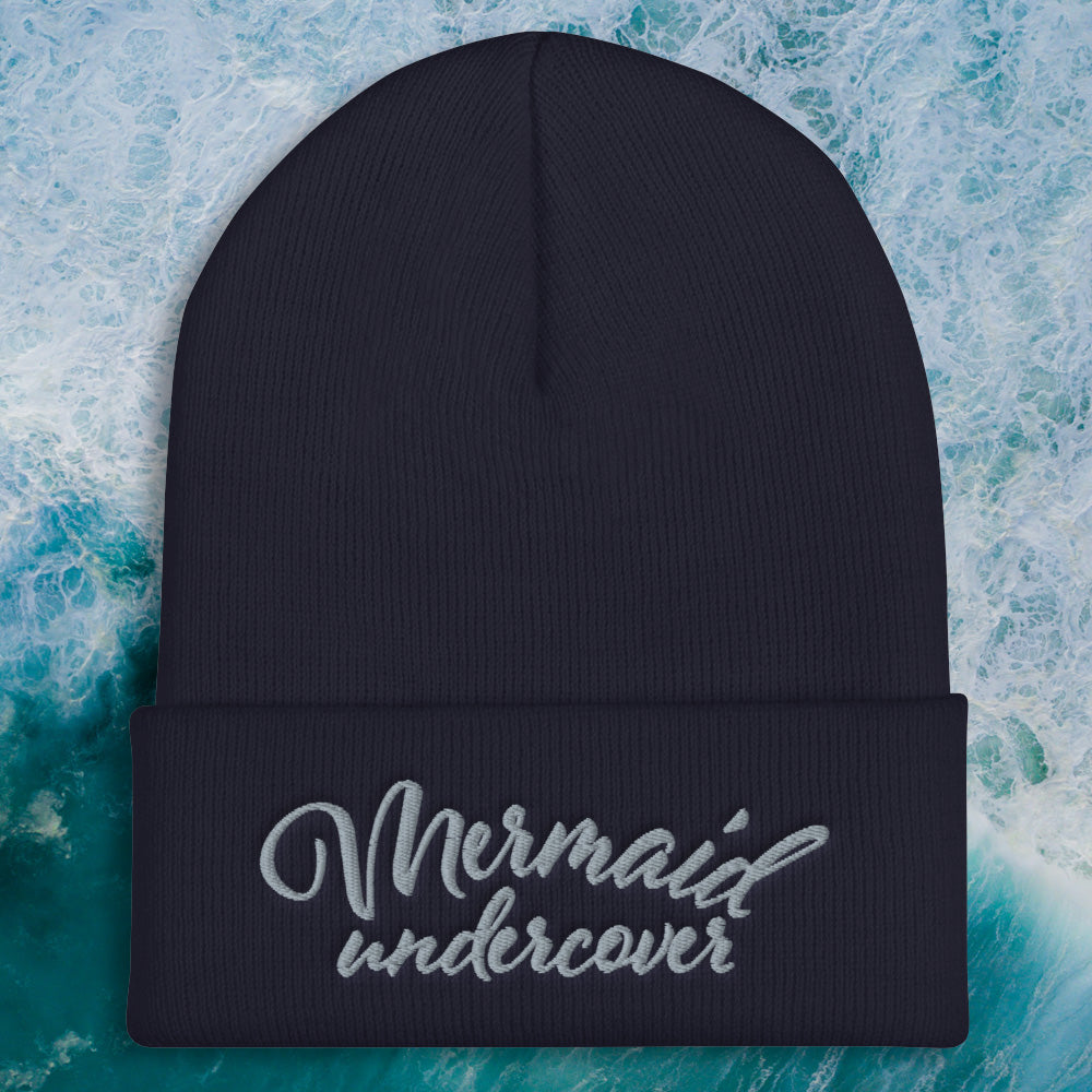 Mermaid Undercover Embroidered Beanie - Cape Cali
