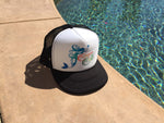 Cape Cali Trucker Hat with the Rainbow Mermaid