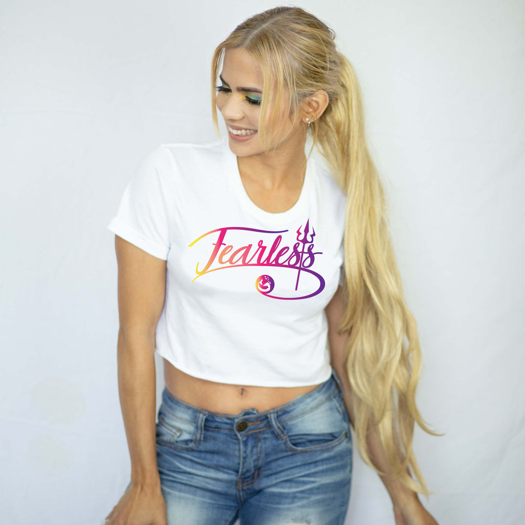 "Introducing Mermaid Elle's ""Fearless"" Women's Crop Tee for Cape Cali"