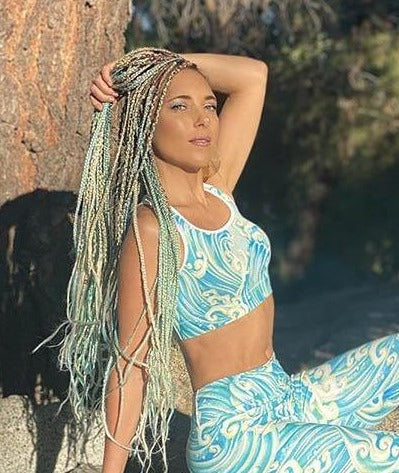 Hannah Mermaid Yoga Top - Wave