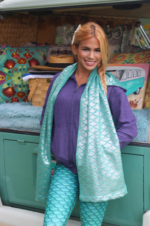 Cape Cali Luxury Mermaid Scale Scarf - Cape Cali
