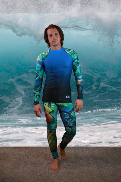 Abalone Shell Men's Compression Pant - Cape Cali