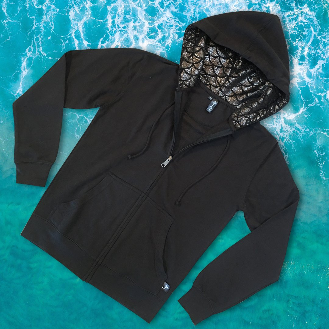 Cape Cali Unisex MerHoodie in Onyx - Cape Cali
