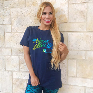 "Introducing Mermaid Elle's ""Never Give Up"" Short-Sleeve Boyfriend Unisex T-Shirt by Cape Cali"