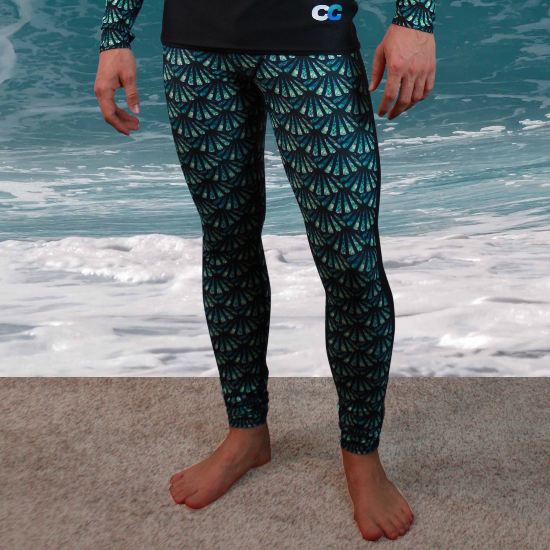 Signature CC Scale Pattern Men's Compression Pant - Cape Cali