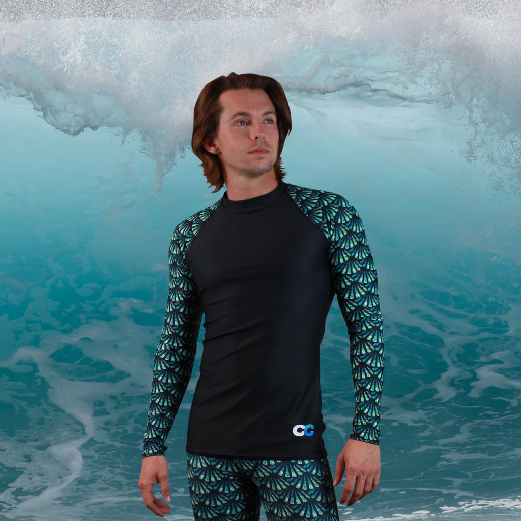 Signature CC Scale Pattern Men's Rash Guard - Cape Cali